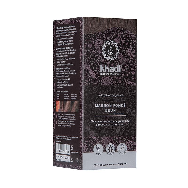 Khadi Teinture aux plantes ayurvédiques bio Marron foncé