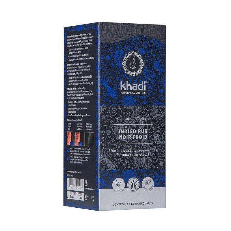 Khadi Teinture aux plantes ayurvédiques bio Indigo pur noir froid