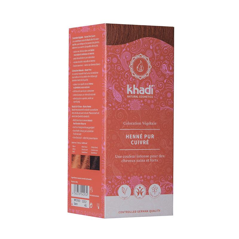 Khadi Teinture aux plantes ayurvédiques bio Henna pur cuivré