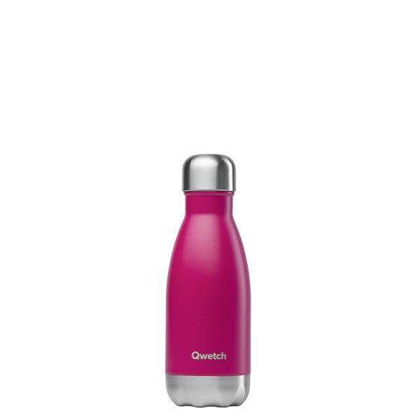 Qwetch Bouteille isotherme en inox sans BPA Petit format magenta - 260 ml
