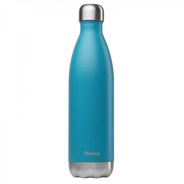 Qwetch Bouteille isotherme en inox - 750 ml Turquoise