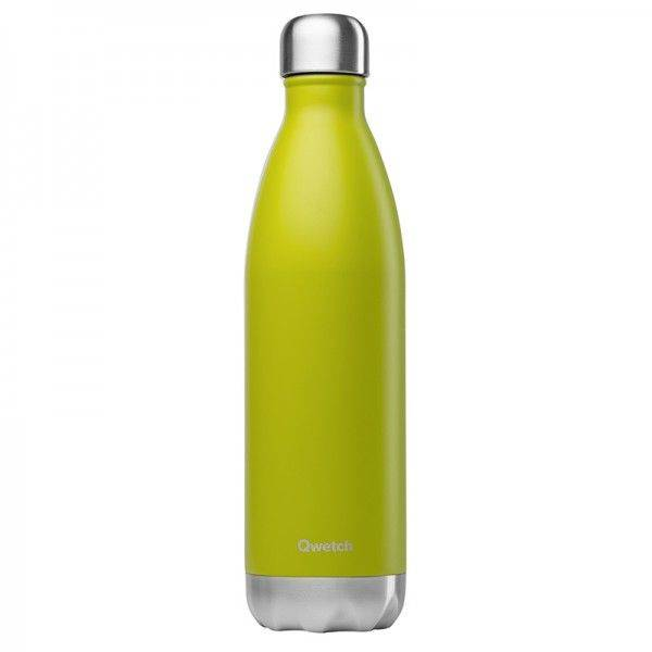 Qwetch Bouteille isotherme en inox - 750 ml Vert Anis