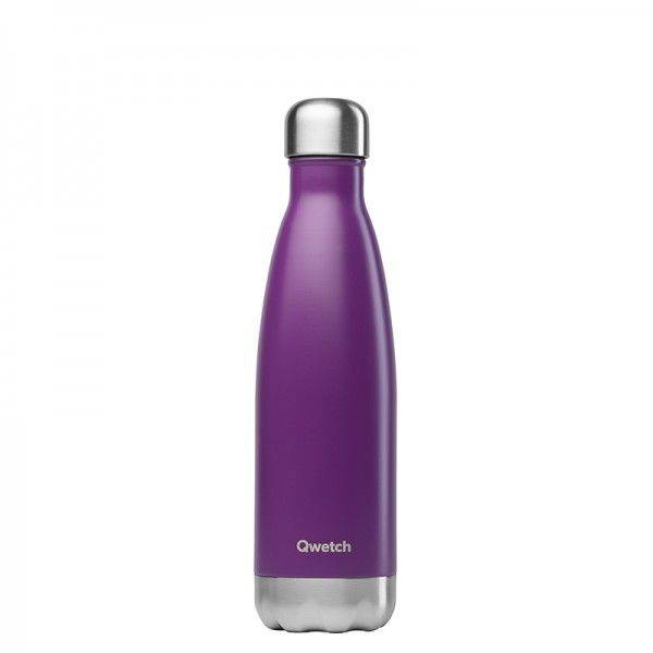 Qwetch Bouteille isotherme en inox - 500 ml Pourpre