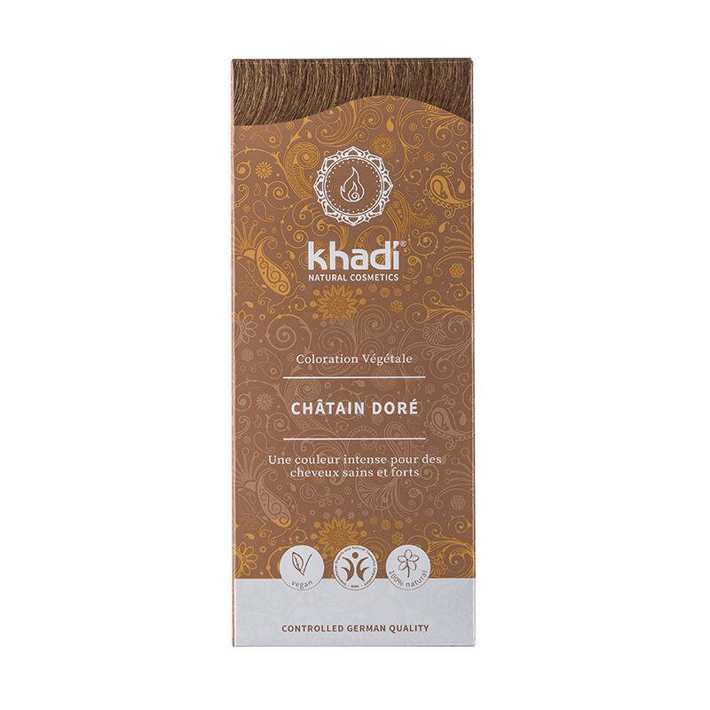 Khadi Teinture aux plantes ayurvédiques bio Châtain doré