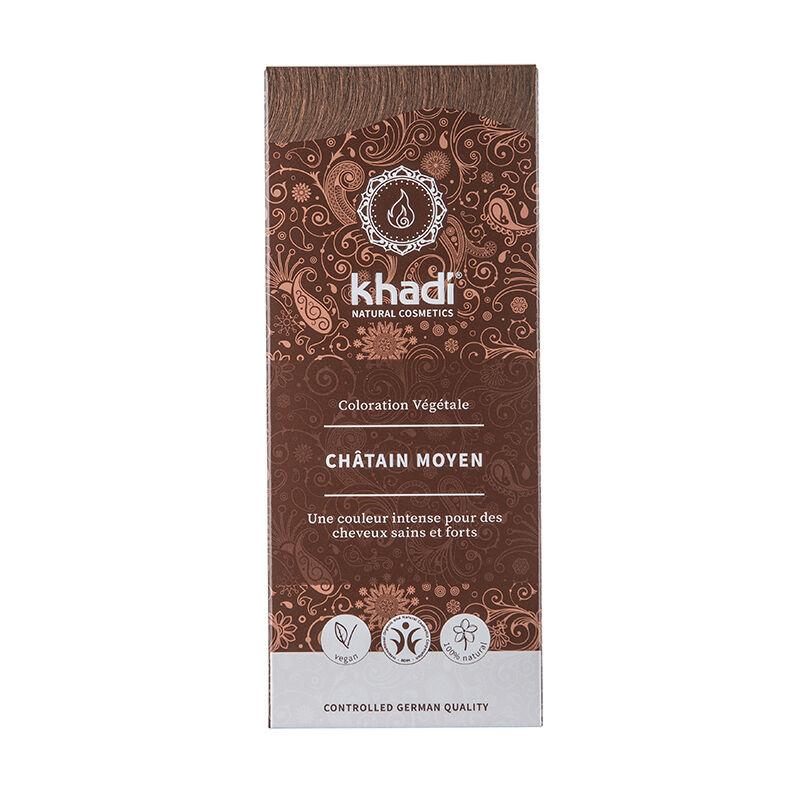 Khadi Teinture aux plantes ayurvédiques bio Châtain moyen