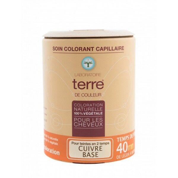 Terre de couleur Soin colorant cuivre base, pré-coloration Marron B et Brun B 100% végétal