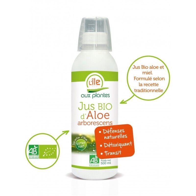 L'ile aux plantes Jus d'Aloé Arborescens et miel d'acacia bio