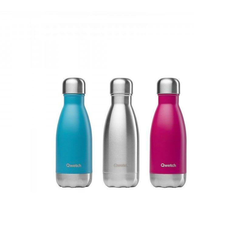 Qwetch Bouteille isotherme en inox sans BPA - 260 ml