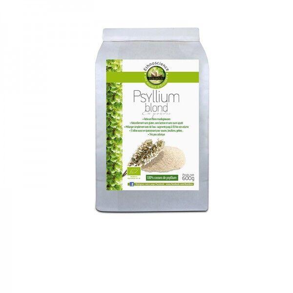 Ethnoscience Psyllium blond en poudre bio format Eco