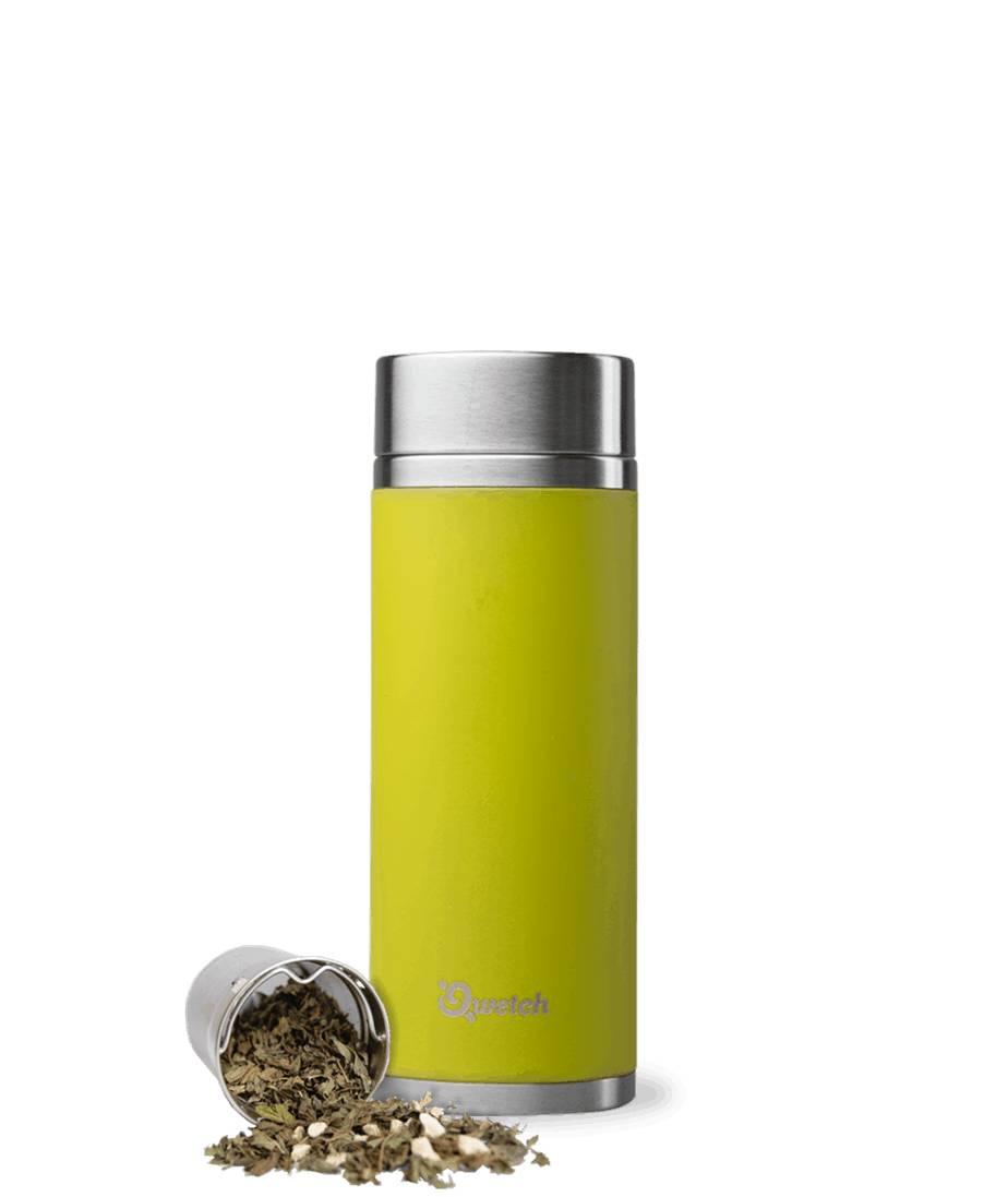 Qwetch Théière isotherme en inox sans BPA - 300 ml Vert Anis