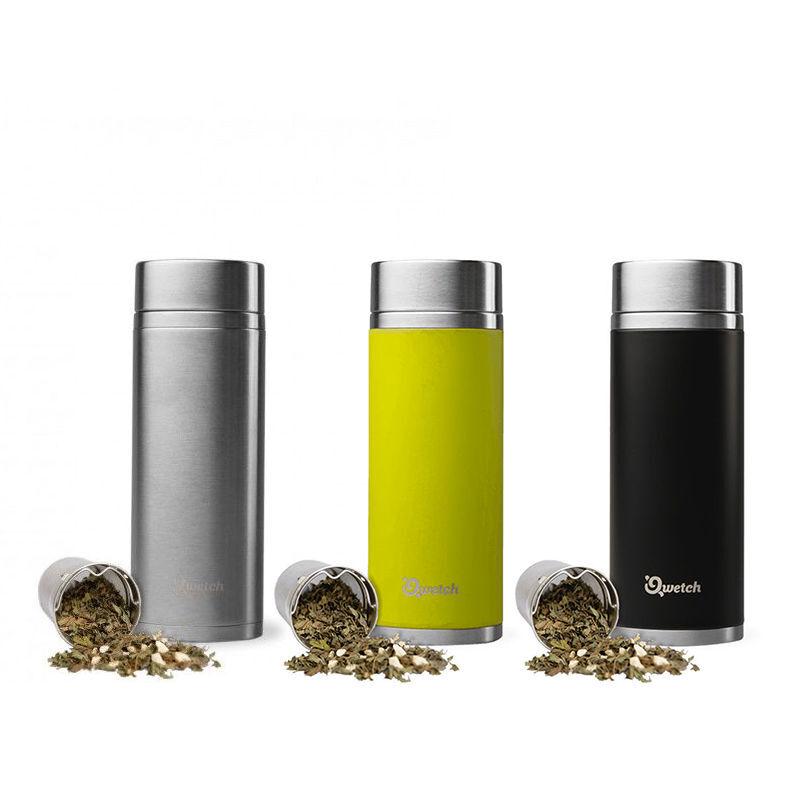 Qwetch Théière isotherme en inox sans BPA - 300 ml
