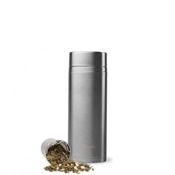 Qwetch Théière isotherme en inox sans BPA - 300 ml Inox brossé