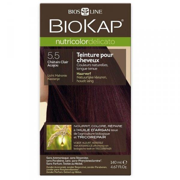 Biokap Coloration pour cheveux Nutricolor Delicato châtain clair acajou 5.50