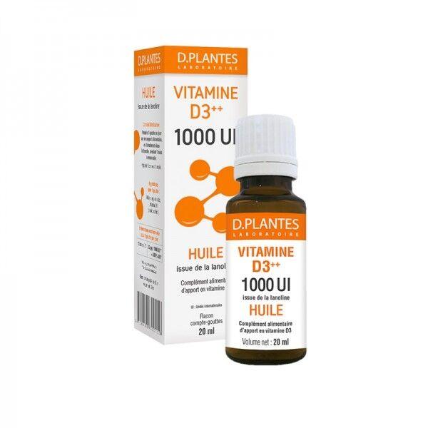 D.Plantes Vitamine D3++ 1000 UI Huile
