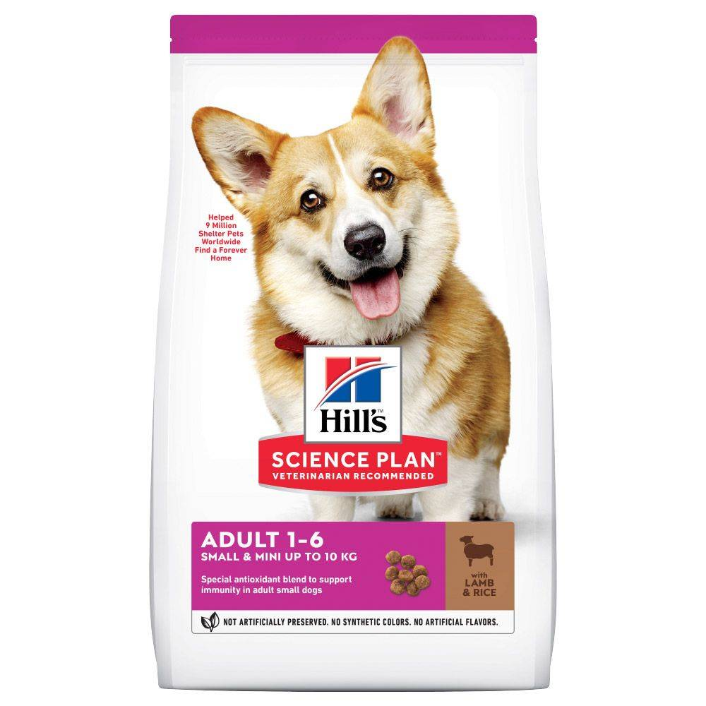 Hill's Science Plan 2x6kg Adult 1-6 Small & Mini agneau, riz Croquettes Hill's Science...