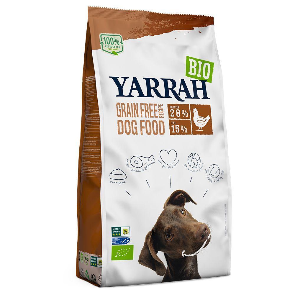Yarrah Bio sans céréales, poulet bio - lot % : 2 x 10 kg
