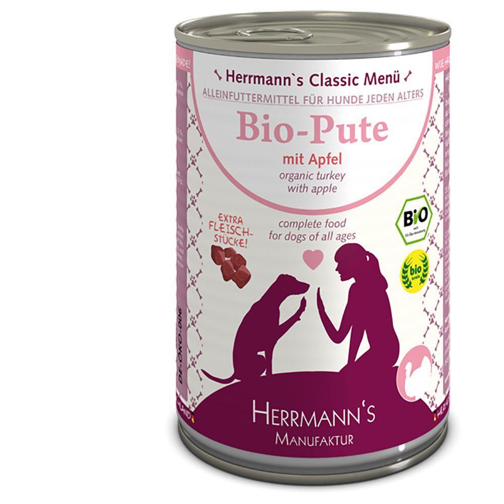 Herrmanns 6x400g canard bio, patates douces, potiron huile d'onagre sans...