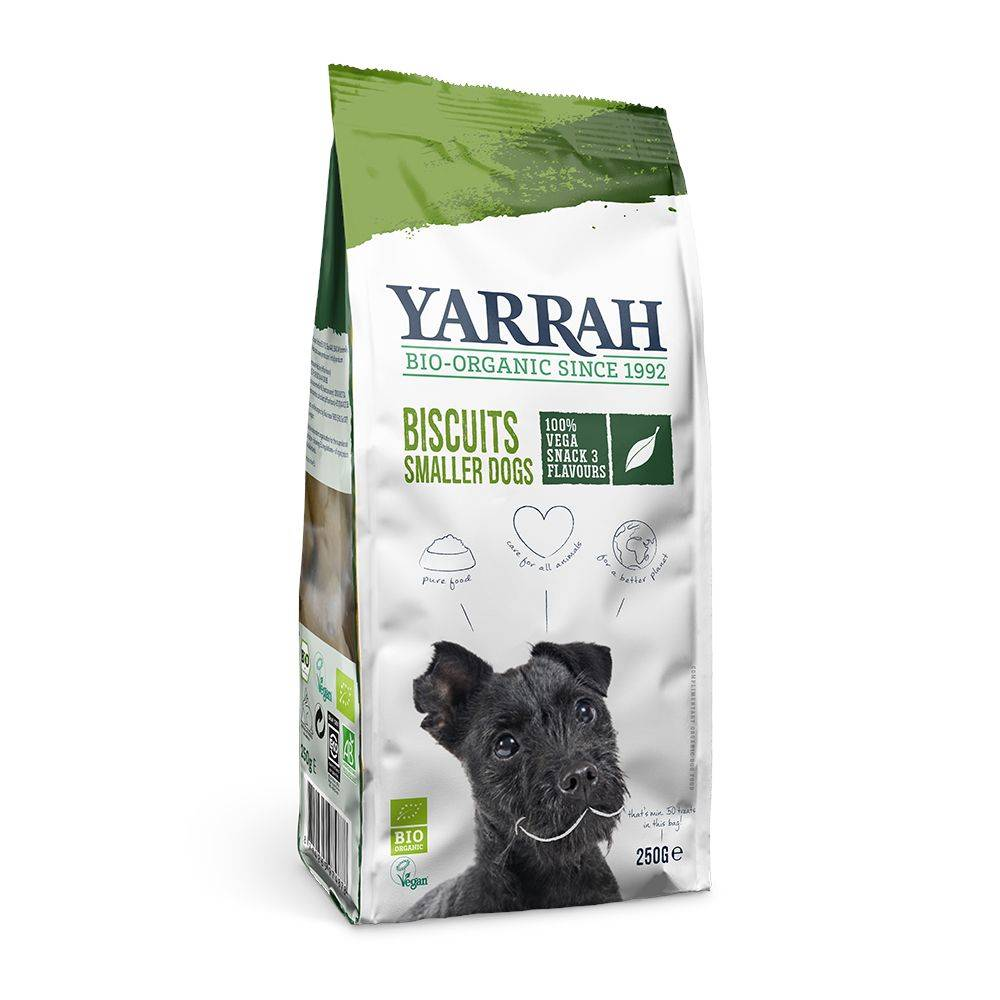 Yarrah 250g Biscuits végétariens Bio Yarrah - Friandises pour Chien