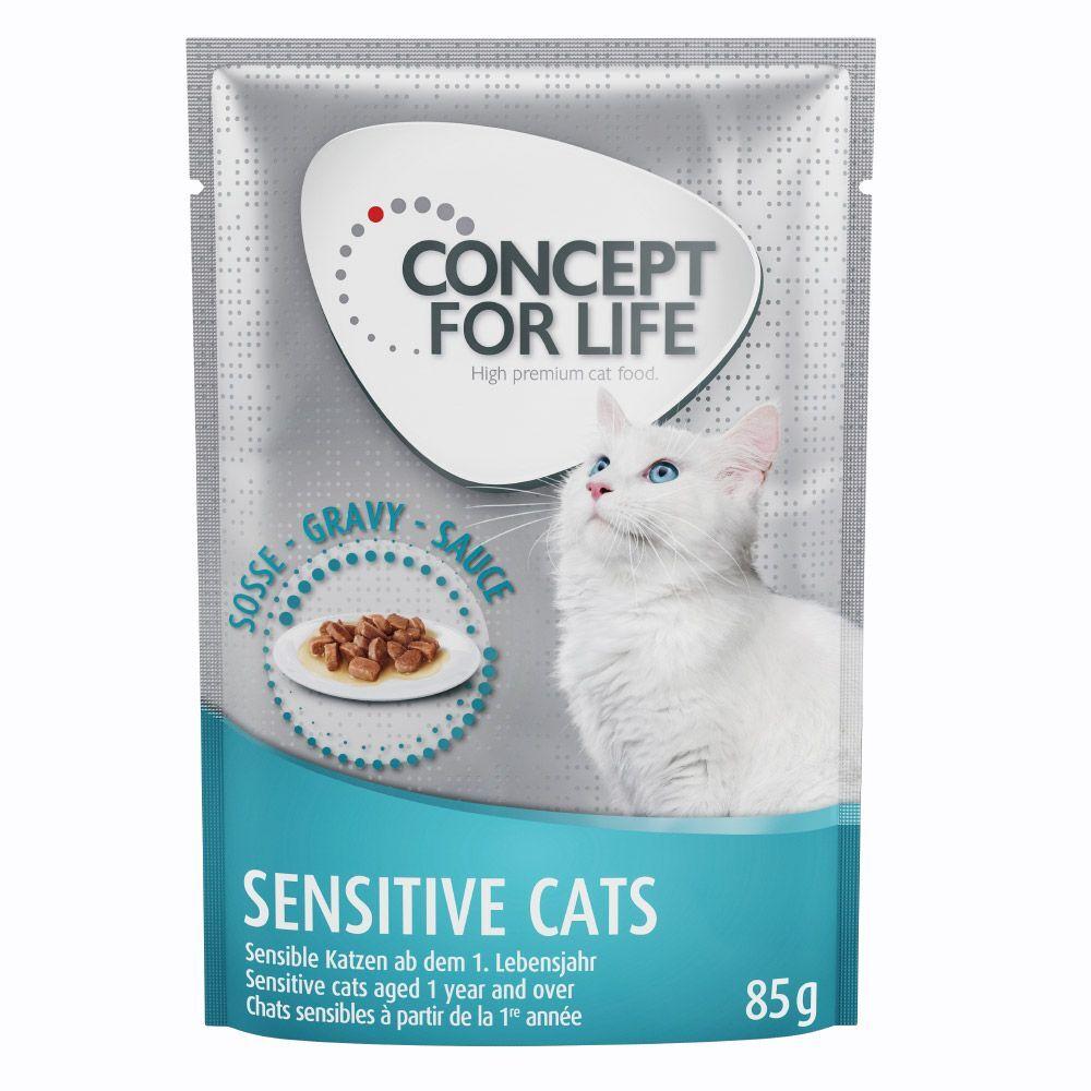 Concept for Life 24x85g Sensitive Cats en sauce Concept for Life - Pâtées pour Chat