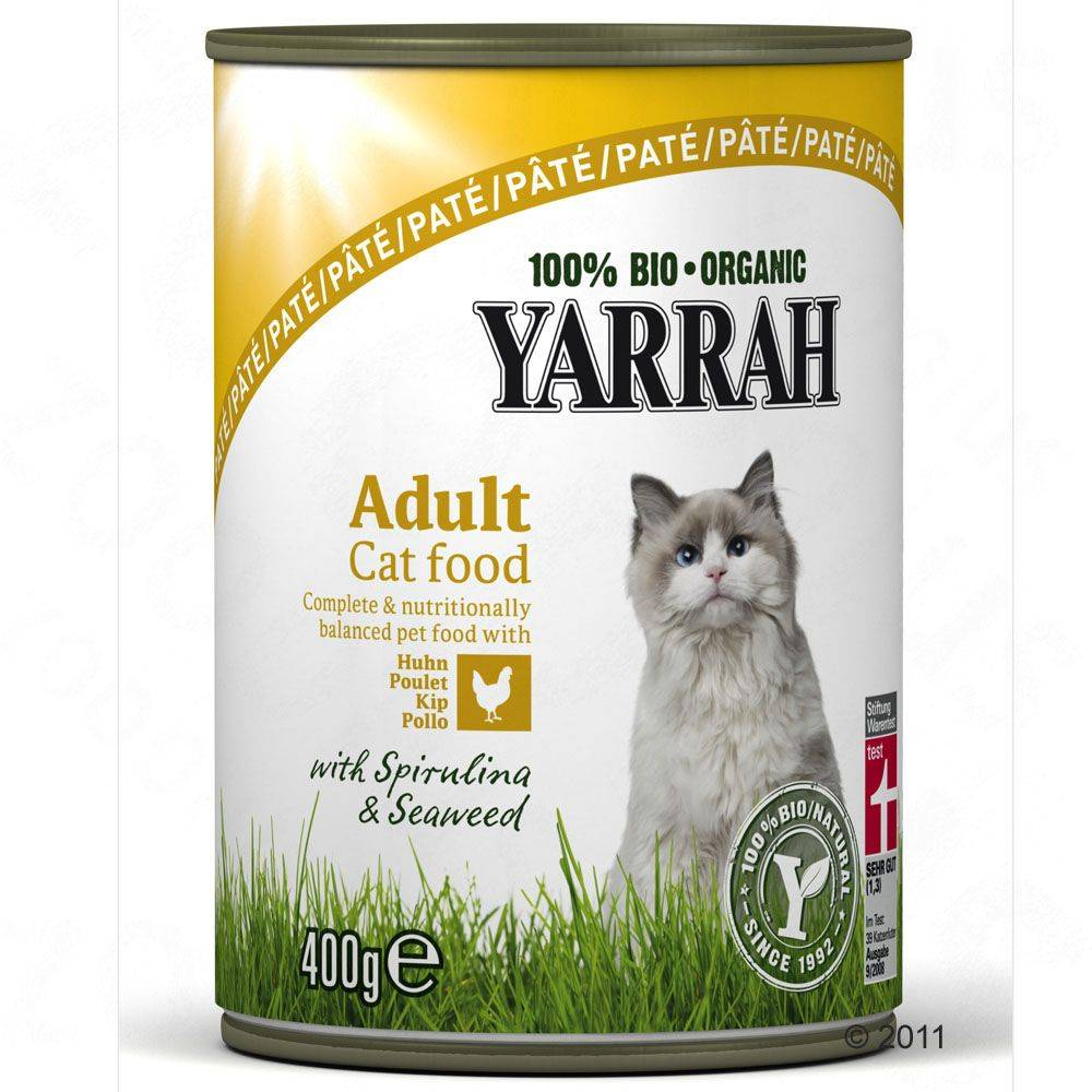 Yarrah 24x400/405g 4 saveurs - lot 4 saveurs Yarrah - Pâtée pour Chat