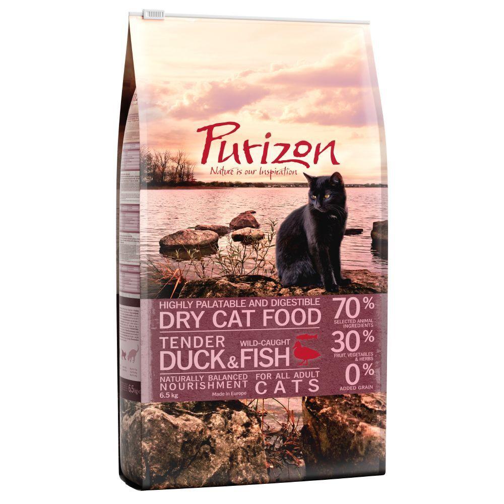 Purizon 2x6,5kg Purizon Adult, canard & poisson - Croquettes pour chat