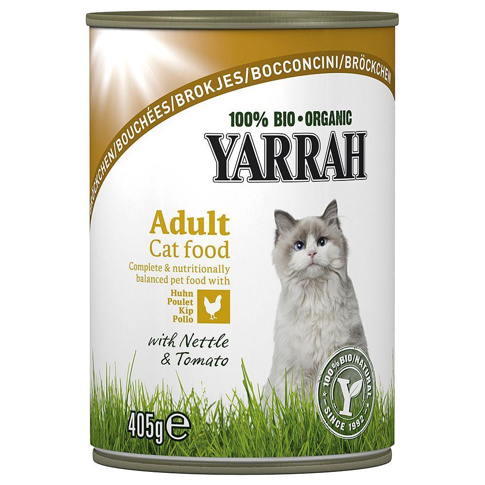 Yarrah Bio 24 x 400/405 g - Bio Pâté : poulet - 400 g