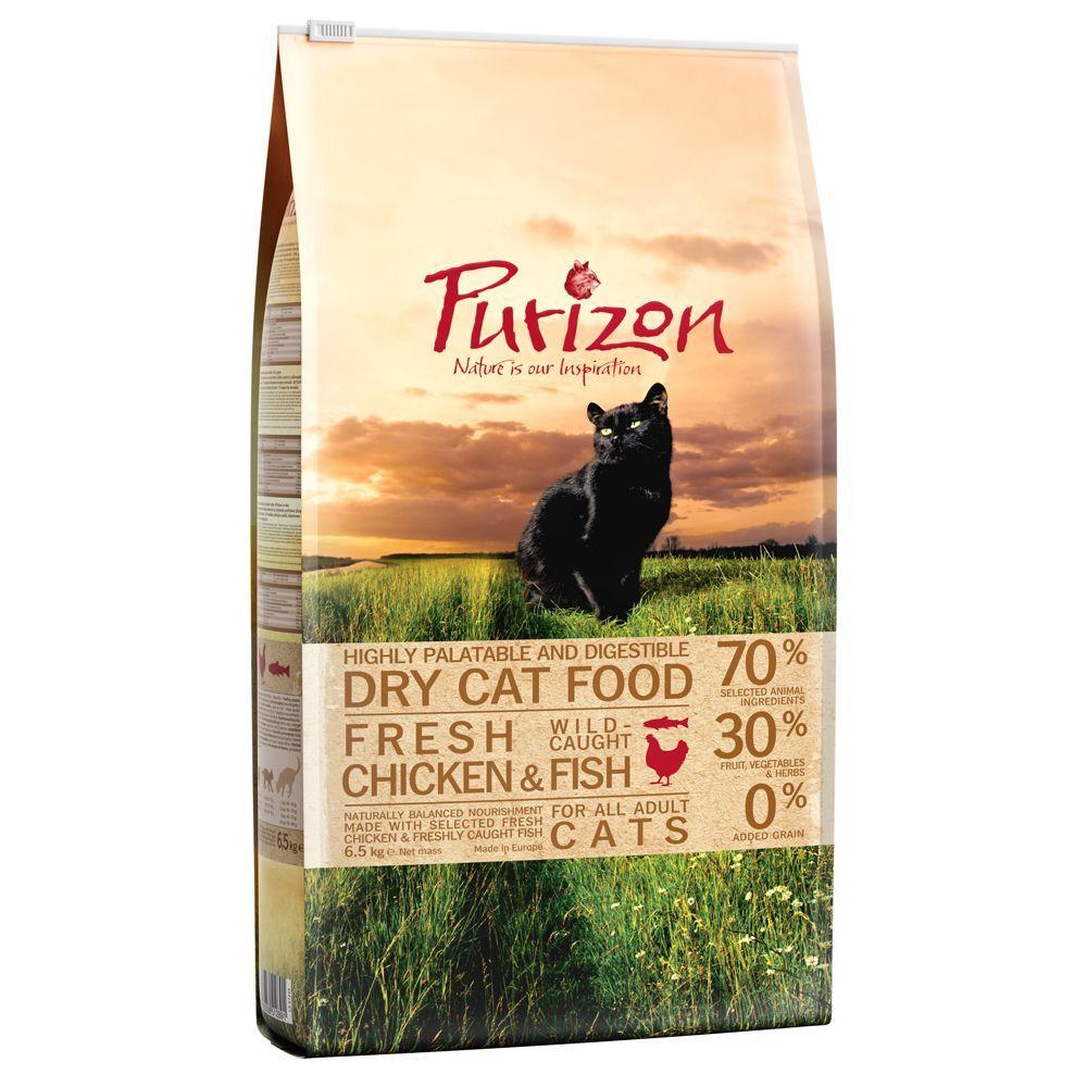 Purizon 6,5kg Purizon Adult, Poulet & Poisson - Croquettes pour chat