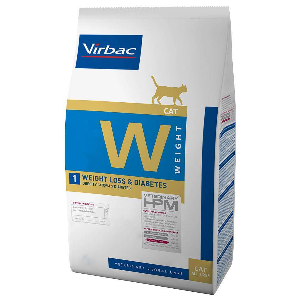Virbac Veterinary HPM Cat Weight Loss & Diabetes - lot % : 2 x 7 kg