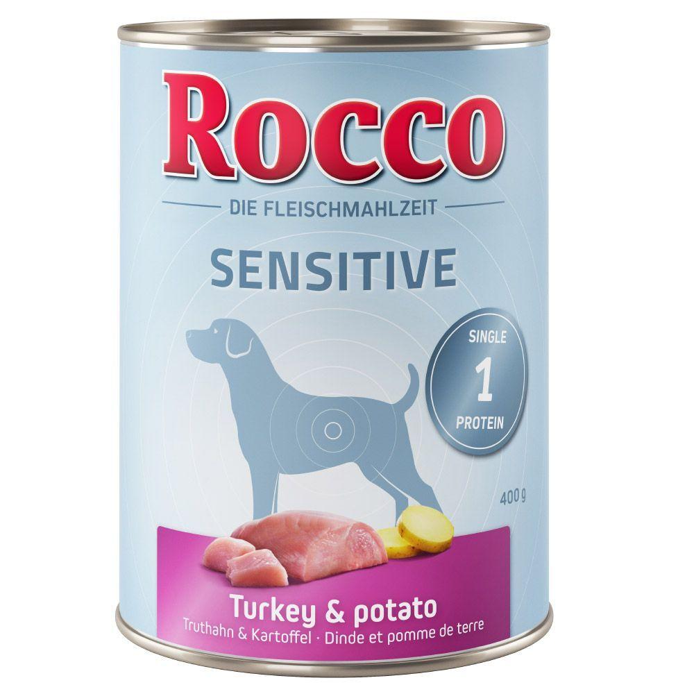 Rocco 24x400g Rocco Sensible gibier, pâtes - Pâtée pour chien