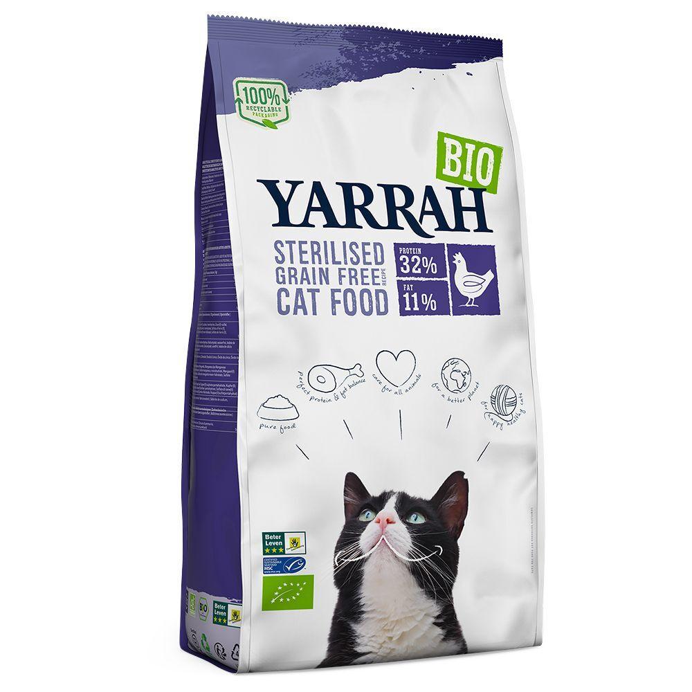 Yarrah Bio Sterilised pour chat - lot % : 2 x 2 kg