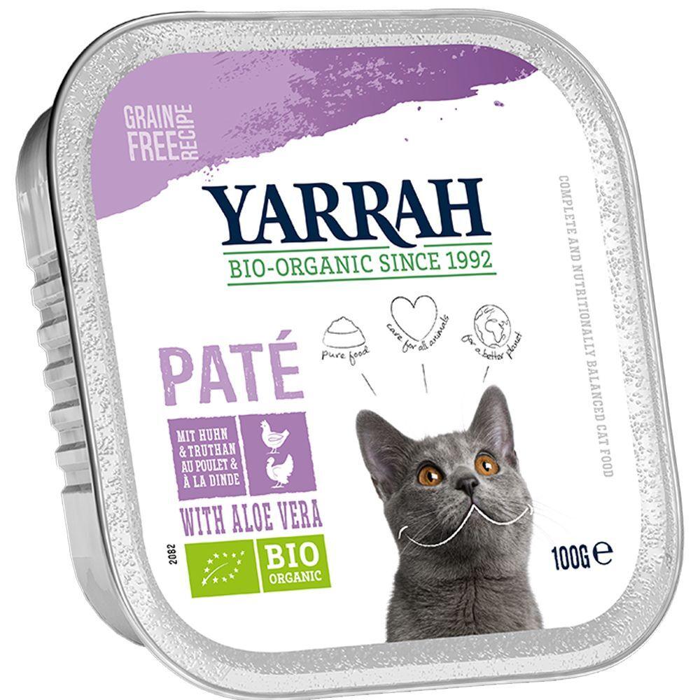 Yarrah Bio Pâté 6 x 100 g - poulet, dinde, aloe vera