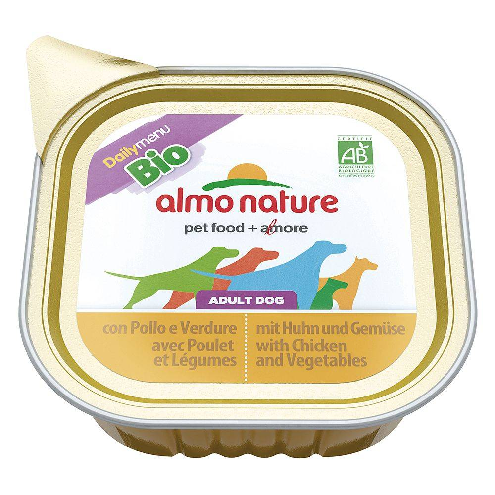 Almo Nature Daily Menu 12x100g poulet légumesDaily Menu Bio Almo Nature Nourriture pour chien