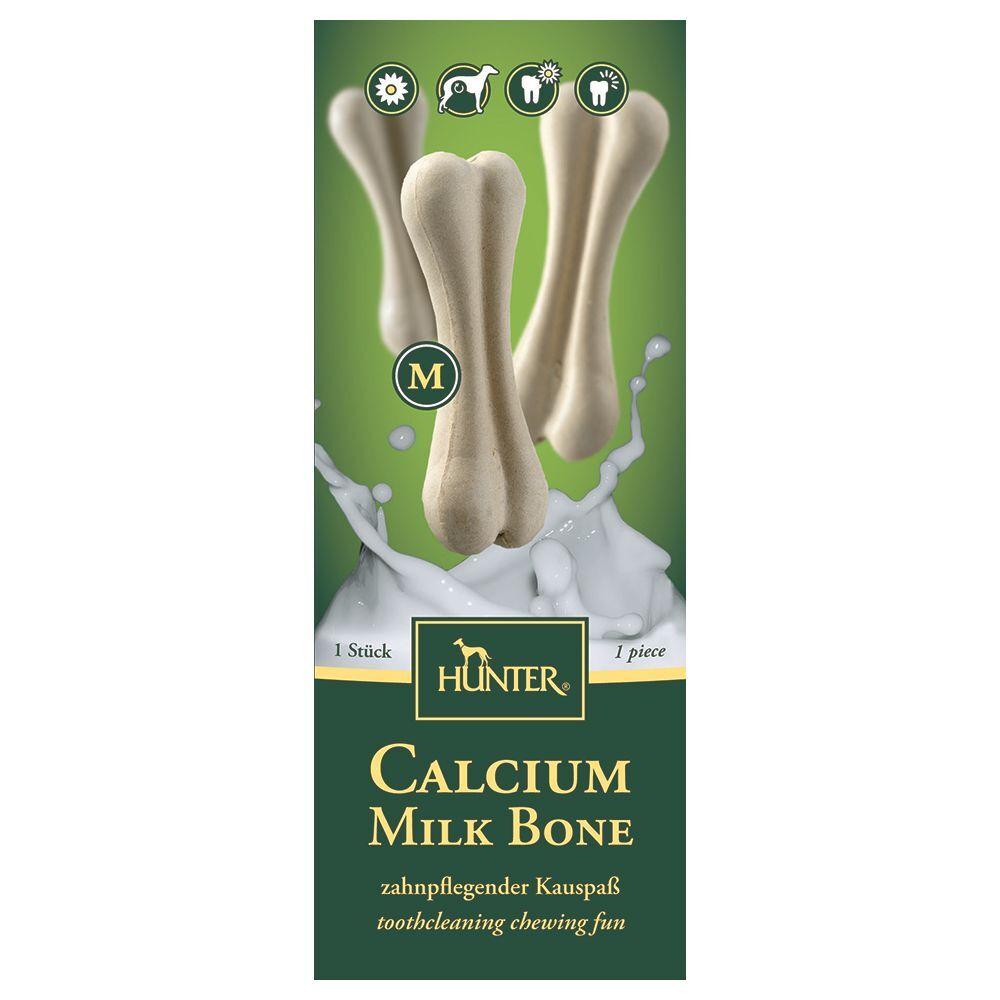 Hunter 55 g / 10 cm Os bucco-dentaires Hunter Calcium Milk Bone M pour chien