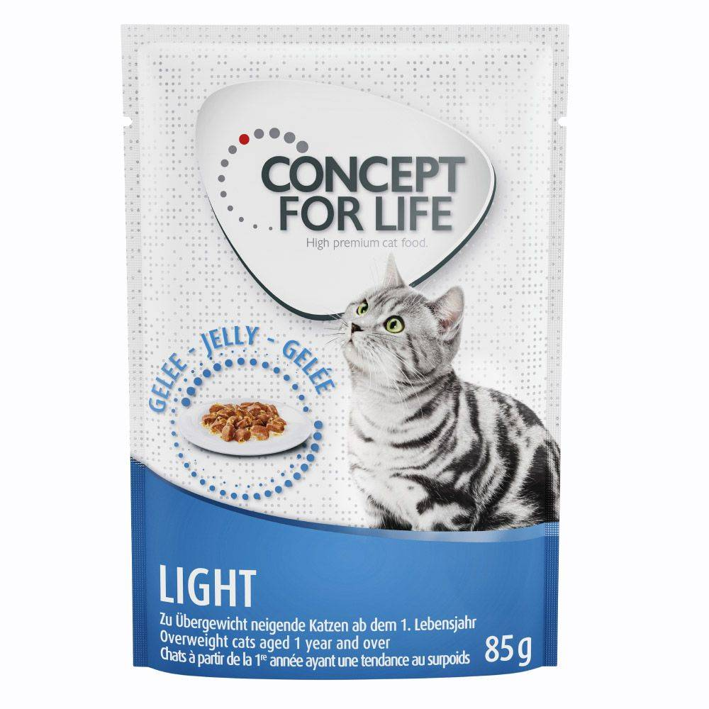 Concept for Life 24x85g Light en gelée Concept for Life - Pâtées pour Chat