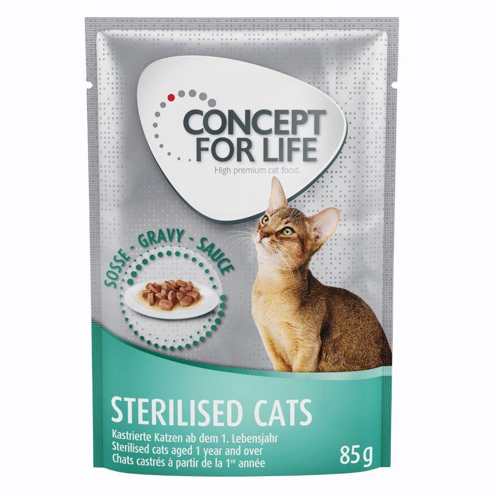 Concept for Life 48x85g Sterilised Cats en sauce Concept for Life - Pâtées pour Chat