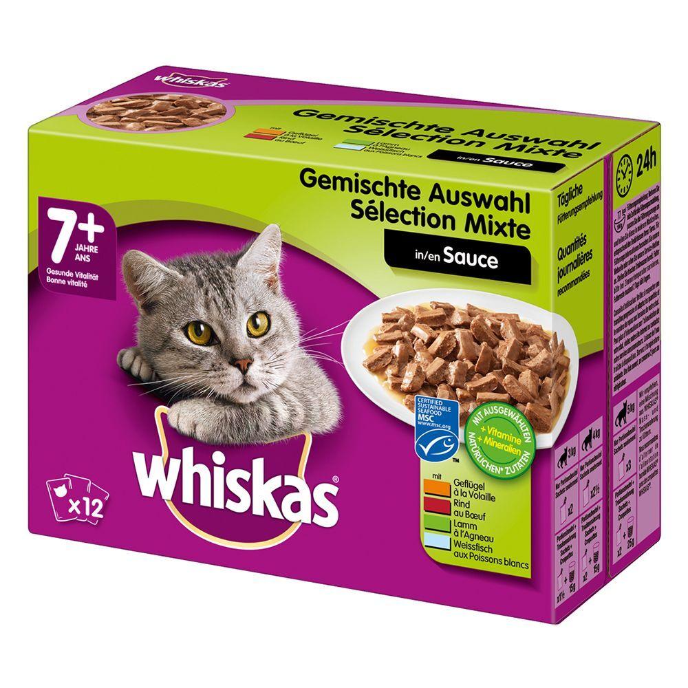 Whiskas 48x100g Whiskas 7+ Senior - sélection variée en sauce - Pâtée pour Chat