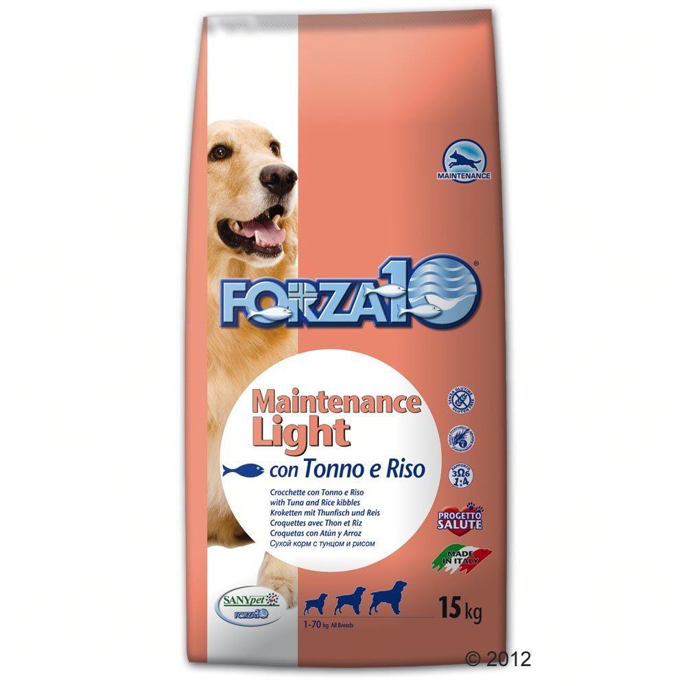 Forza10 Maintenance Dog 15kg Maintenance Light, thon & riz Forza10 - Croquettes pour Chien