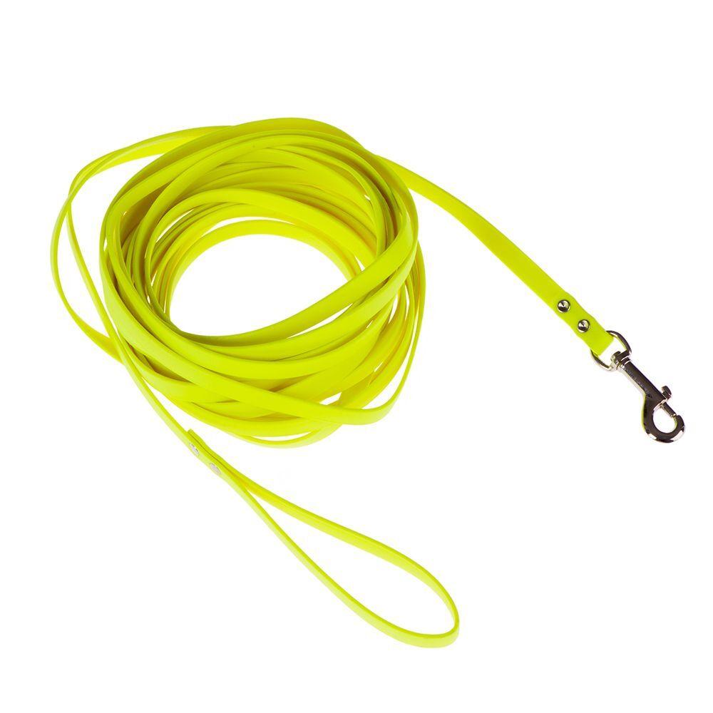 Heim M : L 10 m x l 1,3 cm Longe en biothane , jaune fluo Heim - Laisses...