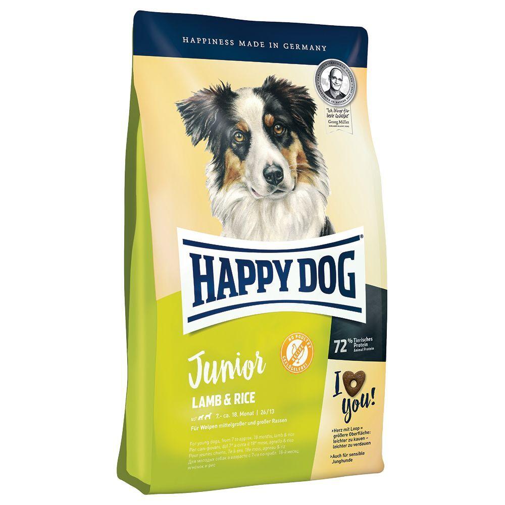 Happy Dog Supreme Young Junior agneau, riz pour chien - lot % : 2 x...