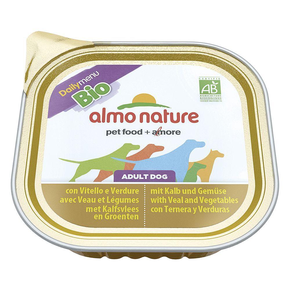 Almo Nature Daily Menu 27x300g Almo Nature Bio Paté - bœuf, légumes - Pâtée pour chien