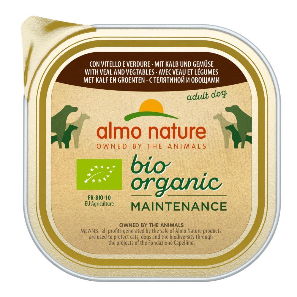 Almo Nature Daily Menu 9x300g Almo Nature Bio Paté - bœuf, légumes - Pâtée pour chien