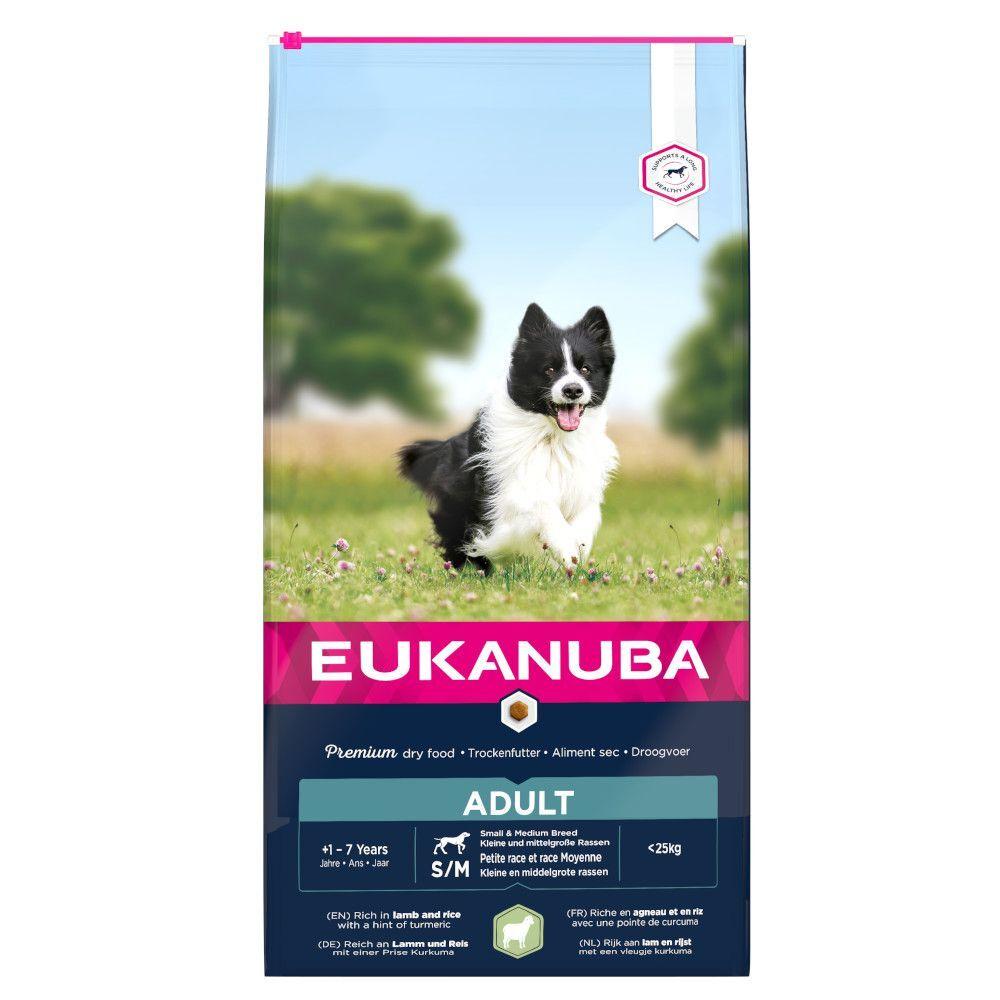 Eukanuba 12kg Adult Small/Medium Breed, agneau & riz Eukanuba - Croquettes...