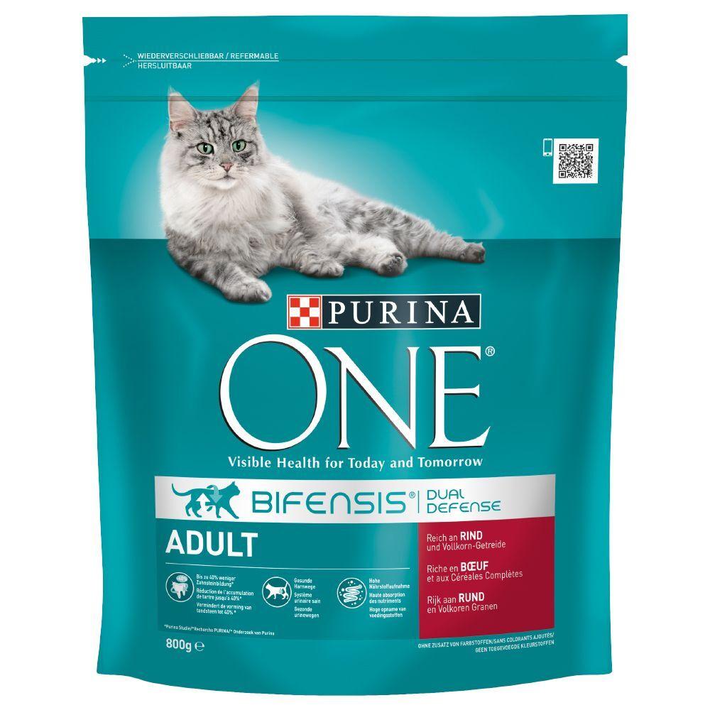 Purina One 4x1,5kg Adulte bœuf, céréales complètes Purina One - Croquettes pour...