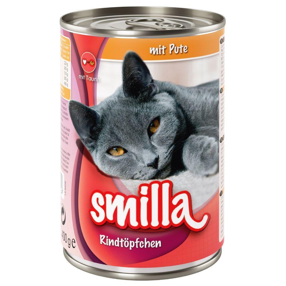 Smilla 24x400g bœuf, dinde Smilla - Pâtée pour chat