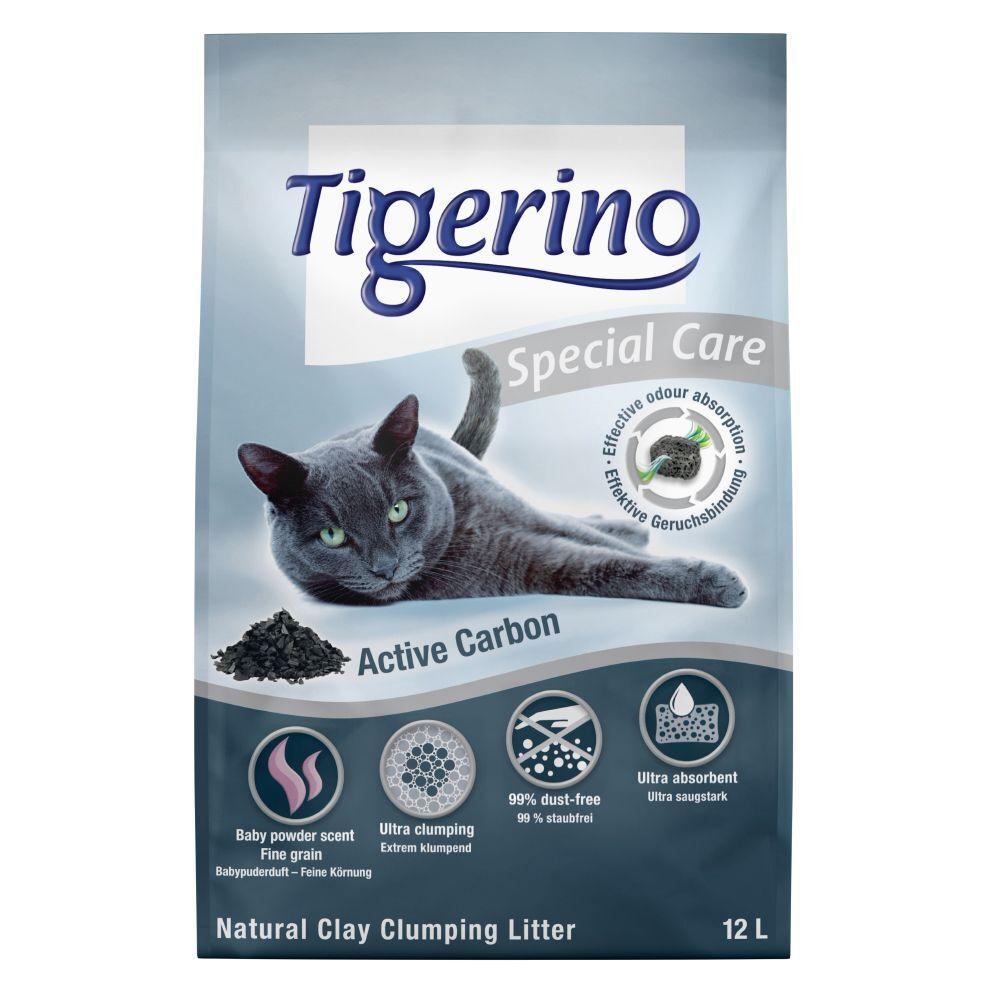 Tigerino Litière Tigerino Special Care Charbon actif - lot % : 2 x 12 l