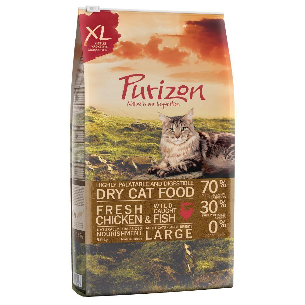 Purizon 2x6,5kg Purizon Large Adult, poulet & poisson XXL - Croquettes pour chat