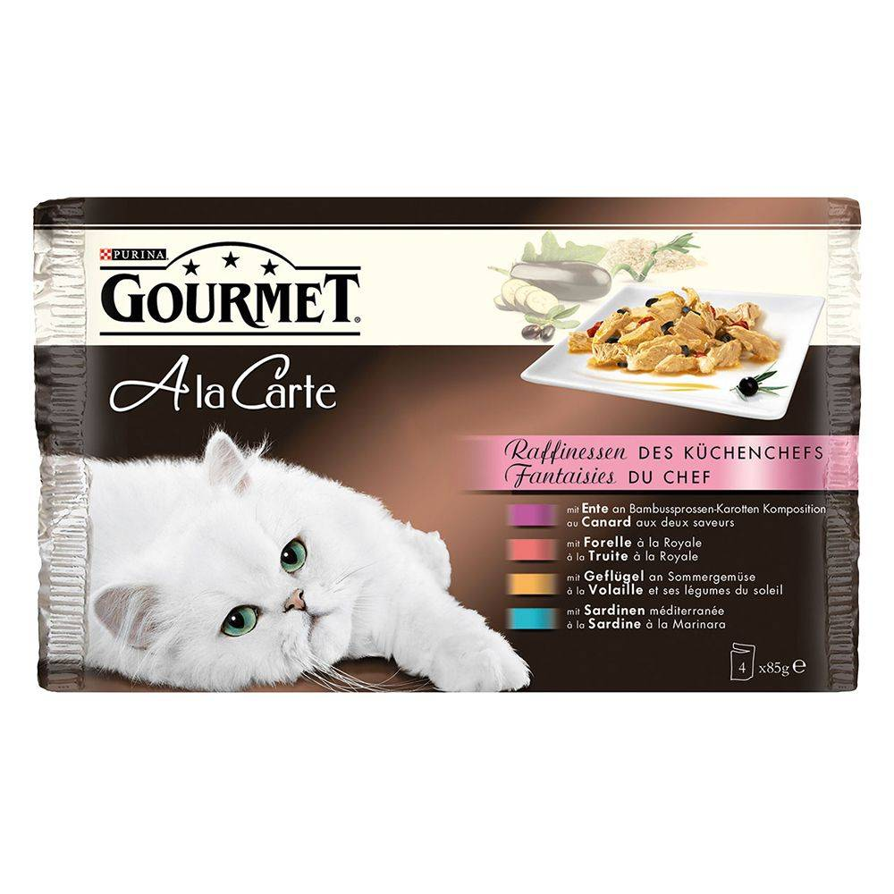 Gourmet 4x85g À La Carte - recettes gourmandes Gourmet - Pâtée pour Chat