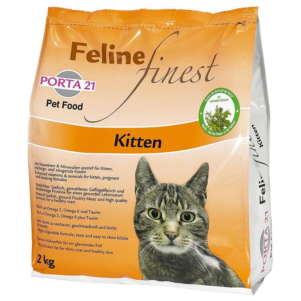 Porta 21 3x2kg Porta 21 Feline Finest Kitten - Croquettes pour chat