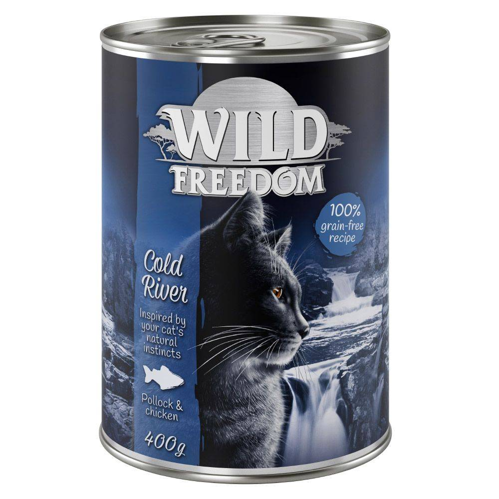 Wild Freedom 24x400g Adult - Wide Country - pur poulet Wild Freedom - Pâtée pour Chat