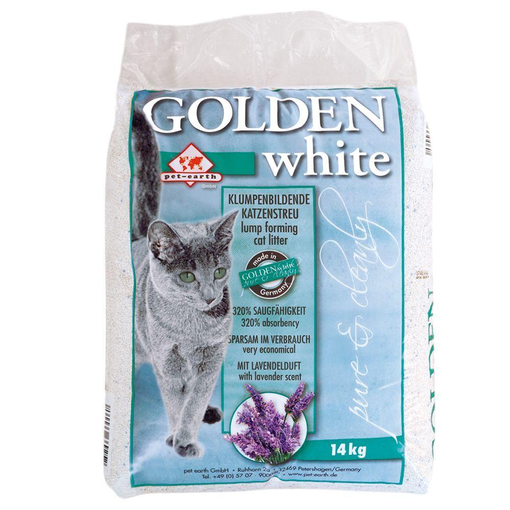 Golden 14 kg Golden White Litière pour chat